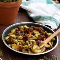 Russian Pan-Fried Potatoes with Wild Mushrooms