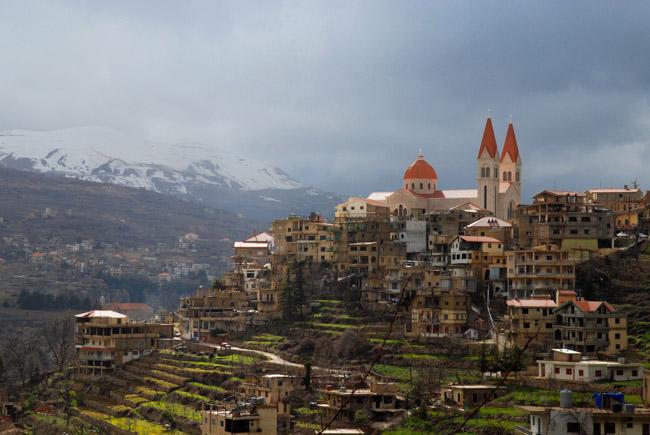 Ливан, горы, дорога в кедровый заповедник