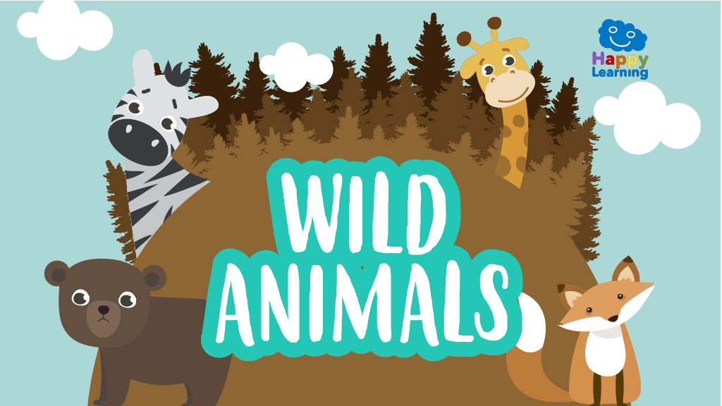 Word Search Wild Animals  Games for Kids  Happy Learning