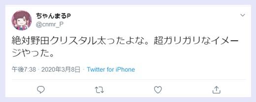 野田クリスタルは太った