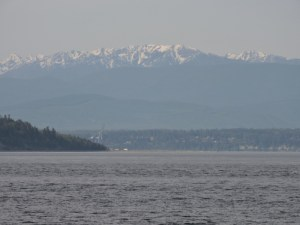 Whidbey Island with the Cascades rising behind it