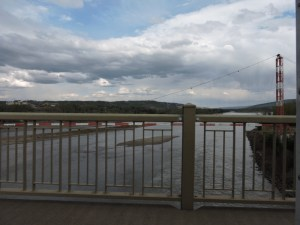 We cross the Peace River Bridge