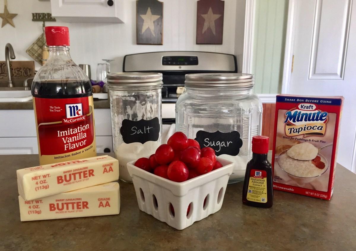 Freshly Picked Sweet Cherry Pie ingredients list