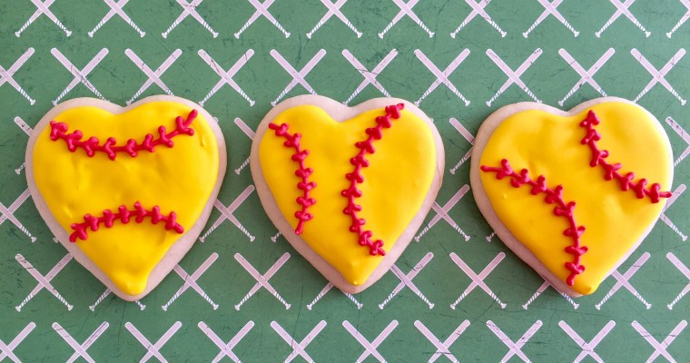Championship Winning Softball Cookies