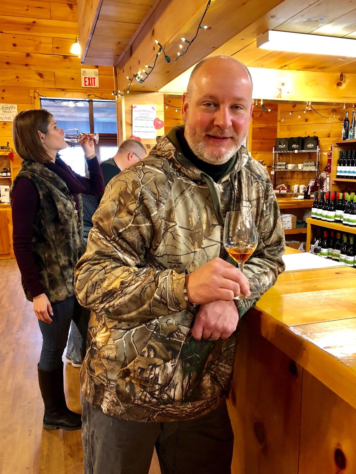 Wine tasting at Caroline Cellars