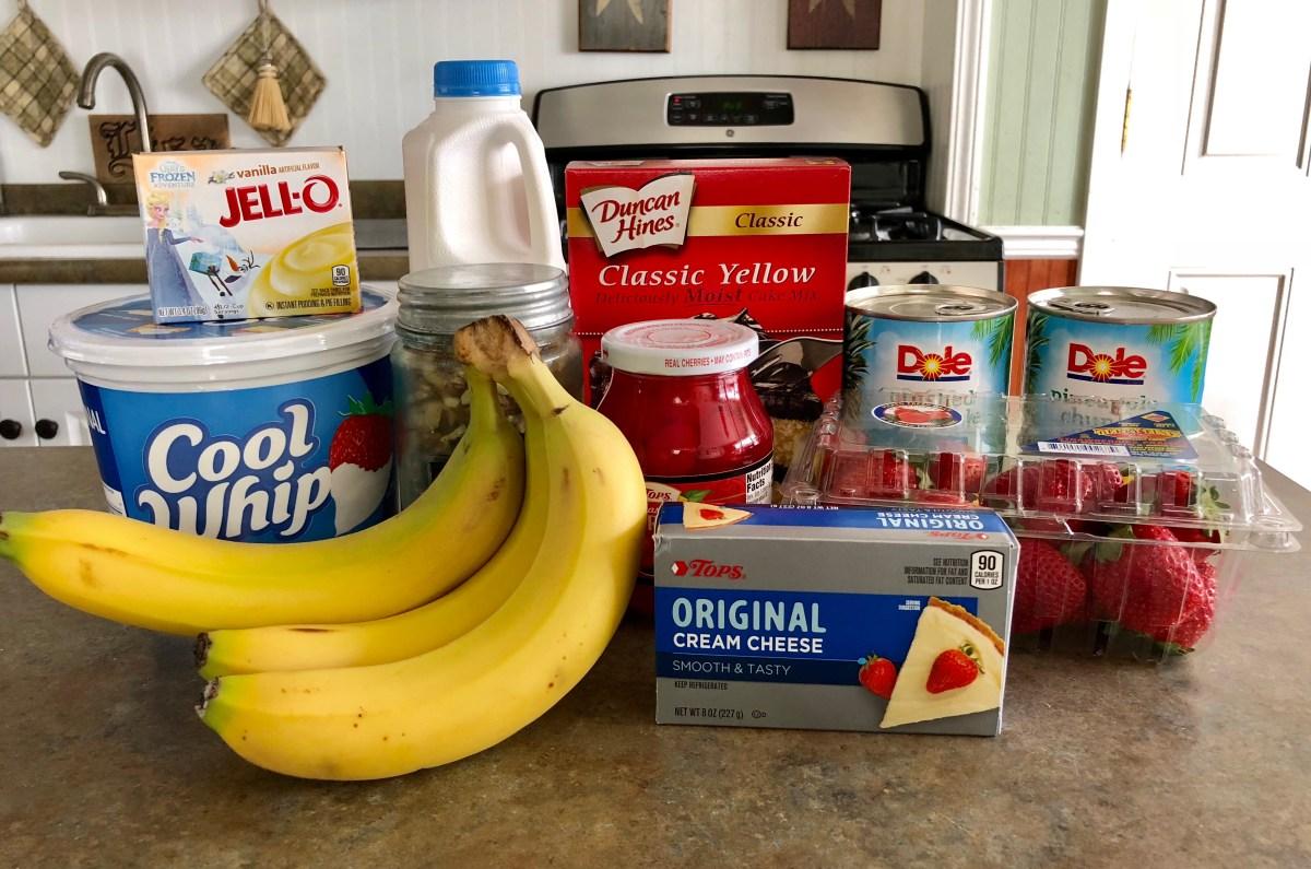 Banana Split Cake Ingredients List