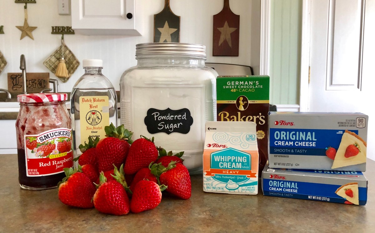Fresh Strawberry Tart ingredients list #strawberrytart #tart #summerdessert #strawberryrecipes #freshstrawberryrecipes