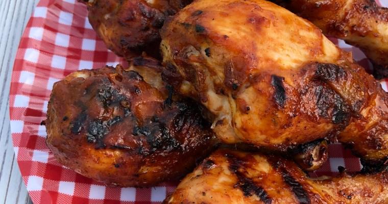 Rhubarb-b-q Chicken Drumsticks