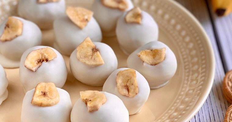 White Chocolate Banana Cream Truffles