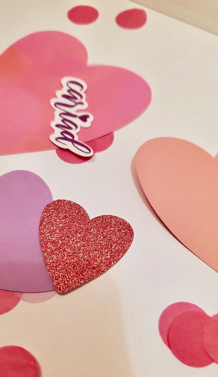 Photo of pink hearts
