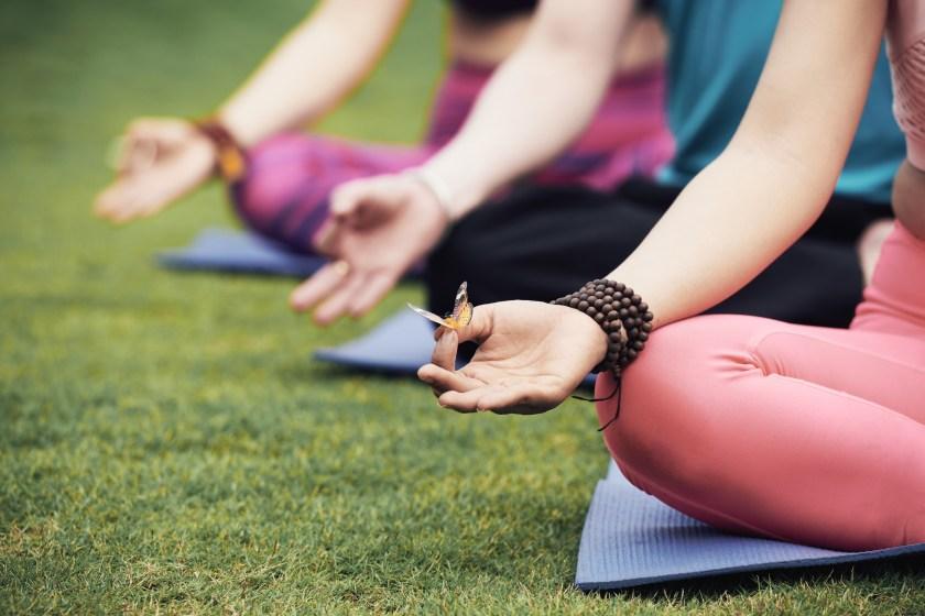 Sommer-Yoga im Park