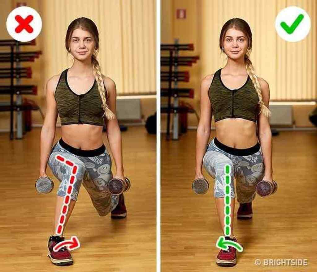 chyby při cvičení