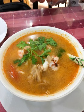 tom yam soup with shrimps