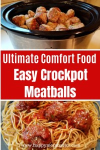 Homemade Crockpot Italian Meatballs the Ultimate Comfort food. These healthy & delicious meatballs are filled with ground turkey, zucchini and quinoa. They taste so good you'll forget there healthy. Your kids will love them too! #crockpot #meatballs #comfortfood #italianmeatballs