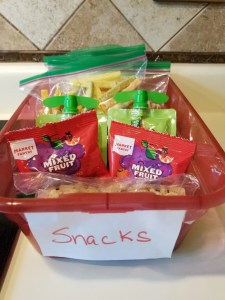 Pantry Organization for Kids Snacks for School
