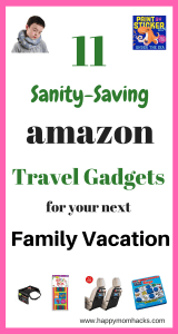 11 Must have Amazon Products and Gadgets for kids. Great travel accessories for road trips and long airplane rides. Keep your sanity on your next vacation with these great travel hacks. #travelaccessories, #travetips, #familyvacation