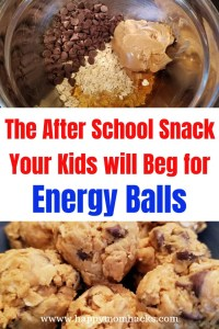 Healthy After School Snack for kids Peanut Butter Energy Balls. It's an easy make ahead snack kids and adults will love. Try it today. #energyballs #peanutbutter #afterschoolsnack #healthysnack #snacksforkids