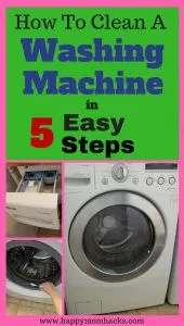 Wondering how to clean your washer? Does your Front Loading Washing machine smell or have mold? Follow these five easy steps using vinegar, baking soda and bleach. You will be amazed at how quick and easy it is!