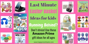 Easter Basket Ideas for Kids by age. Click through to find great Easter Basket Ideas for kids from babies to Teenagers. Get them fast with Amazon Prime and be ready for a great Easter! #easter #eastergifts #kidgifts