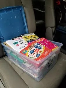 Activity box for Kids on a Road Trip