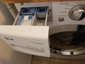 Add your baking soda mixture to your washers soap dispenser.