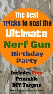 How To Thorw An Awesome Nerf Birthday Party With Ideas For Games Favors Pintables