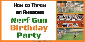 How to Throw the Best Nerf Gun Party with DIY Targets, Free Printable, Nerf Games and more. Throw a fun party the kids will ever forget!