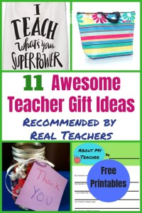 Best Teacher Appreciation Gift Ideas for Christmas and End of the Year. Easy homemade DIY ideas, free printables and class gift ideas.  Give the gifts teachers really want! #teacherapprecitation, #teachergift, #holidaygift