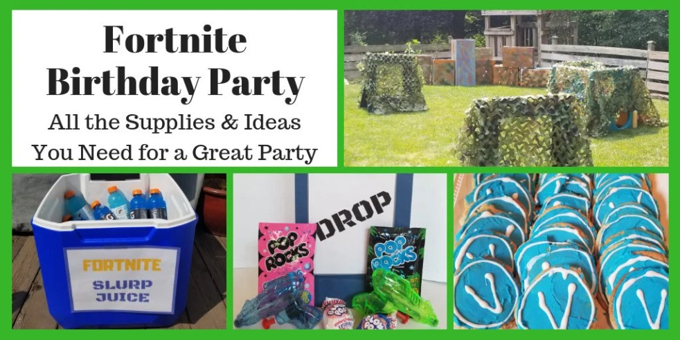 Fortnite Birthday Party Supplies and Ideas