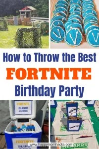 All the ideas you need for the Ultimate Fortnite Birthday Party. Fun Games to create a Fortnite theme. What to include in party favors and theme cakes to create. Free printable to use for decoration. #fortnitebirthday, #fortnite, #kidsbirthdays