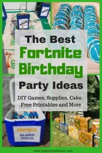 Fortnight Birthday Party Ideas: All You need to Know to throw an unforgetable party. Find Diy bases and games to play including fortnite dancing. Create fun party food with cookies and cakes. Finish up with supply drop party favors and free printables. #fortnite, #partyideas, #kidbirthday, #birthdayparty