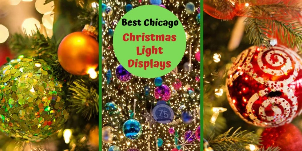 Christmas in Chicago. Need Things to Do with the kids over the holidays? Use this guide to find the best Christmas Light Displays for Families. #christmasinchicago, #holidaylights, #christmaslightdisplays