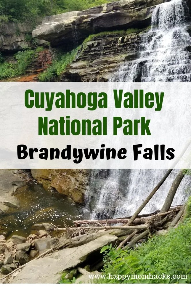 Easy hike to Brandywine Falls, Ohio - Cuyahoga Valley National Park is home to the beautiful Waterfall Brandywine Falls and it's a must see. A quick hike with the kids via a wooden boardwalk leading you to the scenic waterfalls. There are so many fun things to do with kids and adults in this national park. Check out my travel guide and be prepared for a great visit to Cuyahoga Valley National Park. #cuyahogavalleynationalpark, #waterfalls, #travelwithkids, #familytravel