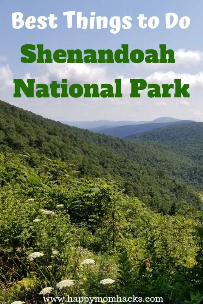 Best Things to Do Shenandoah National Park with Kids. Best trails to hike, cruising skyline drive and visiting waterfalls. Everything you need to know for a great family trip to Shenandoah National Park.  #traveltips, #nationalpark, #familyvacation