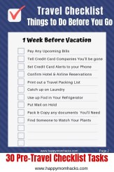 Free Printable Pre-Travel Checklist - Get ready for family vacation.