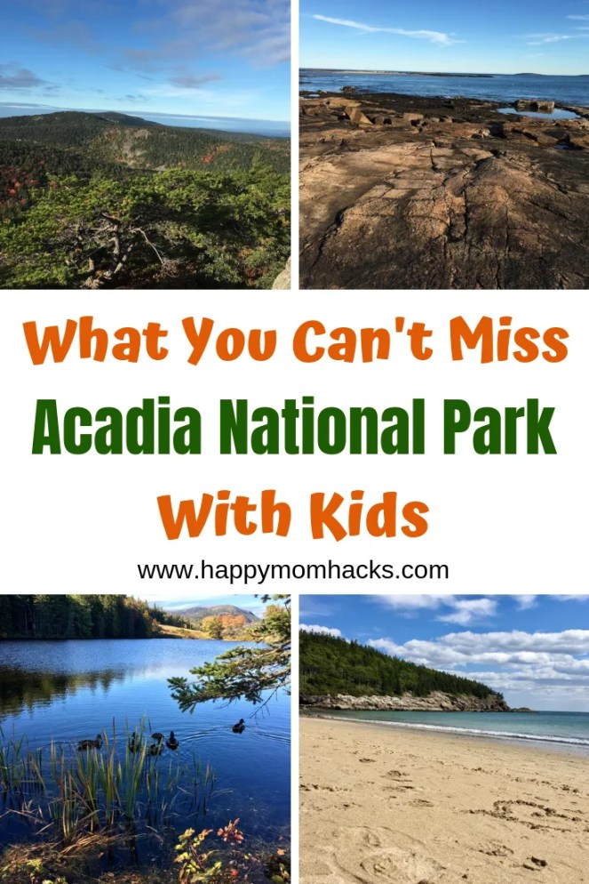 Acadia National Park with Kids. The best Things to do for families. Great hikes, beaches, searching tide pools and scenic drives. Take a great family road trip to Maine with these easy Acadia National Park Tips. #acadianp #nationalpark #familytravel #traveltips