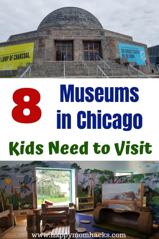 8 Best Museums in Chicago with kids. Things to do while visiting these cool Chicago Attractions. Find out which is museum is right for your family. Check out the Field Museums, Science and Industry, Shedd Aquarium, Planetarium, Chicago Children's Museum and more. Fun Places to visit in Chicago with Kids! #museum #chicagoattractions #chicagomuseums #kids #familytravel #traveltips