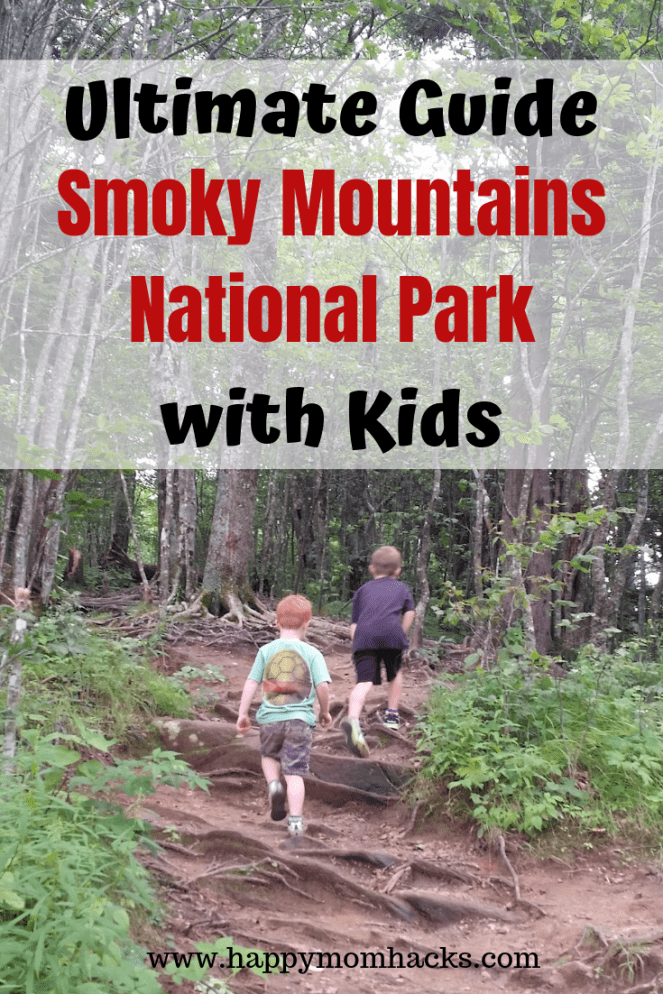 Ultimate Guide to Smoky Mountains National Park. Find out the 8 Best Things to Do with kids. Fun hikes, visiting cades cove, walking the Appalachian Trail, clingman's dome and more. Find out everything you need to know before you go.  #smokymountians #nationalpark #hikes #travelingwithkids #familyvacation