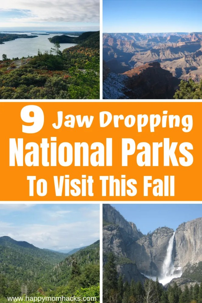 Best National Parks in the USA with kids. Perfect for a family road trip or take your time visiting each seperately. Beautiful vistas with fun hikes and lot of cool things to do while visitng these National Parks. Follow along to find the park that is right for your family.  #nationalparks #roadtrip #familyvacation #fall