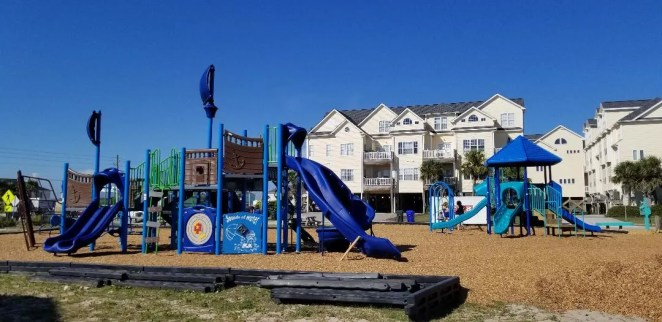 Kids will love getting out and playing on the local playgrounds on Topsail Island. A free thing to do for famlies.