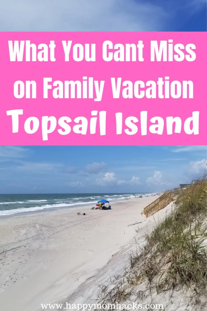 Topsail Island NC Perfect Family Vacation. Find out why this is the trip for you. Visit amazing beaches and all the fun things to do on the island. Visit a turtle sanctuary, Missile Museum, Kayak, fish, boogie board, mini golf and more. It's a fabulous family vacation. Get your insider tips for an unforgettable visit. #topsailisland #beaches #northcarolina #familyvacation #traveltips #traveldestinationideas