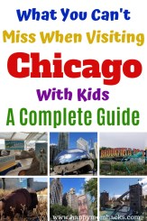 Best Things to Do in Chicago with Kids. A Complete guide of museums, Maggie Daley Park, Zoos, Millennium Park and more. Get tips on the best ways to entertain the kids while visiting Chicago. #chicago #thingstodoChicago #familyvacaiton #midwestvacation #chicagowithkids #travelwithkids