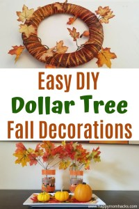 Easy Fall & Halloween Decorations for home. Fun Dollar Store items to create cute DIY Fall Decorations. Simple crafts to turn your yard into a spooky graveyard or have pretty fall decorations inside your home. You'll be amazed by how great dollar store decorations can look! #dollarstore #dollartree #halloweendecorations #falldecor #homedecor