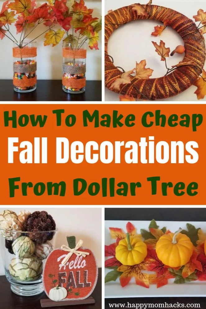 How To Make Cheap Fall Decorations From Dollar Tree Happy Mom Hacks