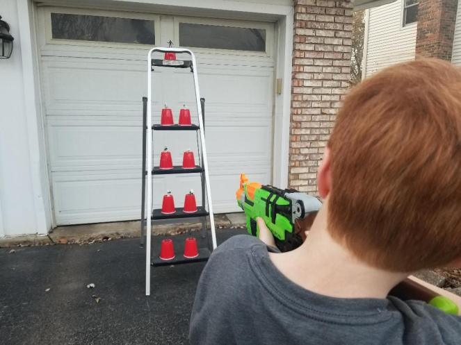 Cool Nerf Gun Games for Kids. Get fun Nerf Game Ideas like Capture the Flag and Humans vs. Zombies. Enjoy playing both indoors and outdoors with DIY Target ideas too. Perfect for Birthday Parties or just a fun afternoon. #nerf #nerfguns #nerfgames #gamesforkids #nerfbirthdayparties #birthdaygames