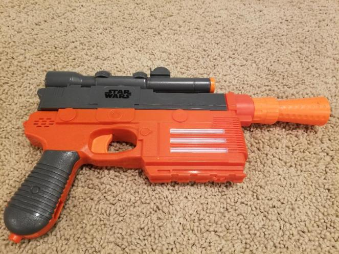 Star wars Nerf Han Solo Blaster is a hit with Star Wars fans.