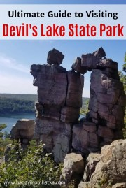 Ultimate Guide to Devil's Lake State Park in Wisconsin. Everything you need to know before you go from best hikes to take, where to swim, camping, where to eat and more. Be ready for a great day out at this beautiful Wisconsin State Park. #devilslake #wistatepark #statepark #wisconsin