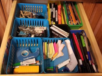 How to Get Your Junk Drawer Organized. Where to start and how to use dollar tree storage ideas to get organized.