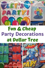 Cheap Birthday Party Decorations at the Dollar Store for kids. Save money on fun party ideas and themes with party supplies from the Dollar Store. Everything you need to throw an awesome birthday party. #dollarstore #dollartree #partydecorations #birthdayparty #kidsbirthdayparty #kidsparty #savingmoney