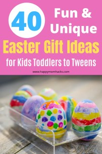 Unique Easter Gift Ideas for Kids from Toddlers to Teens. Fun Easter basket items the kids will love to open Easter morning. #easter #easterbasket #easterbasketideas #giftideas #giftsforkids #holidaygifts